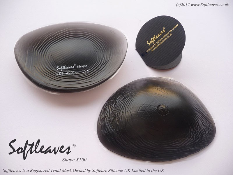 Softleaves X100 Silicone Breast Enhancers in black