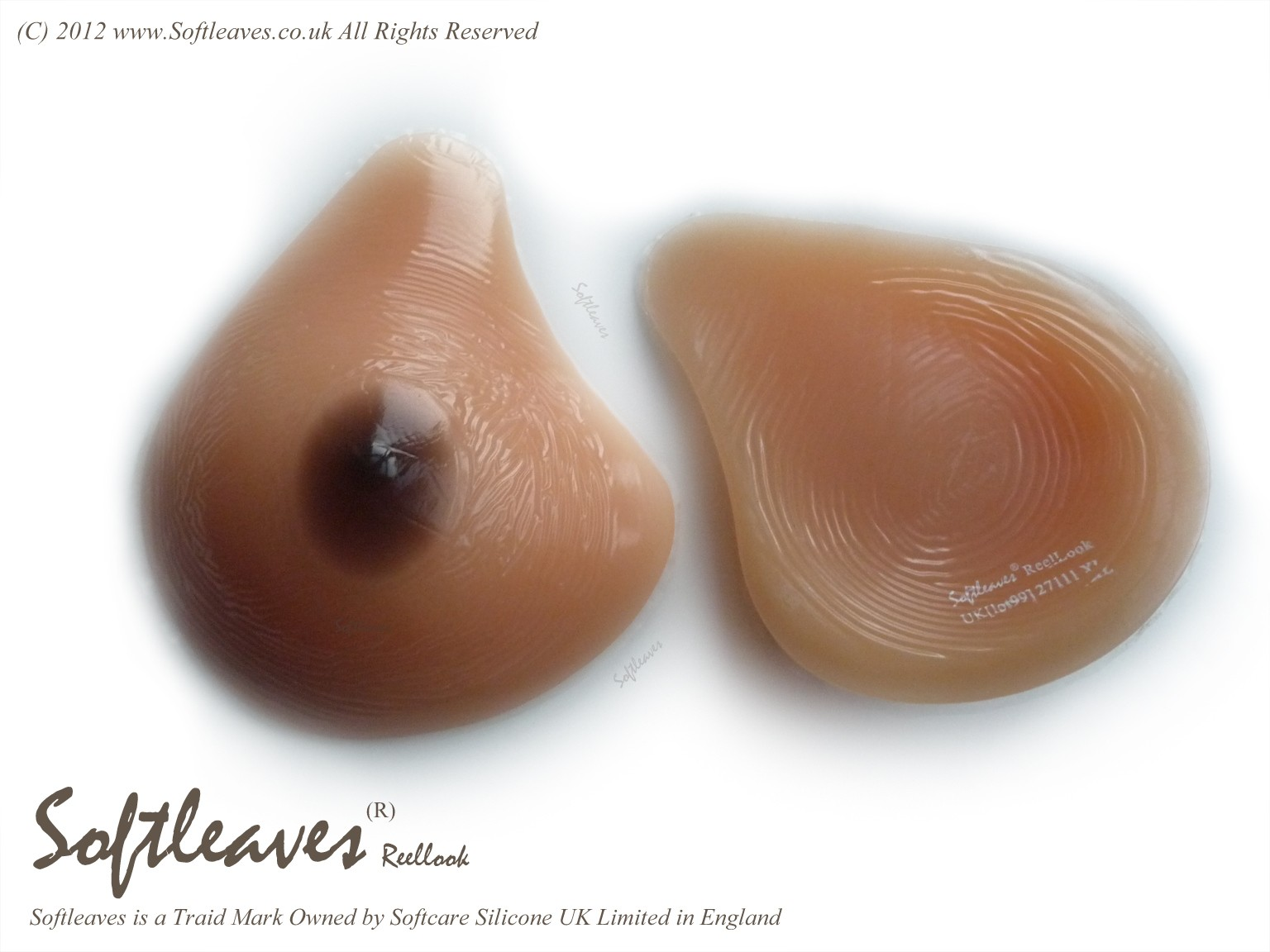 Breast Forms Asymetrical Silicone Breasts Left breast form and right breast form