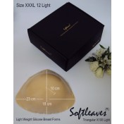 Softleaves Triangular X100 Light-Weight Silicone Breast Forms size 12
